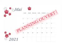 Planning du mois de mai ouvert chez Bulles de Perles !