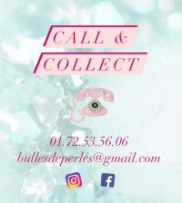 CALL & COLLECT CHEZ BULLES DE PERLES à ERMONT