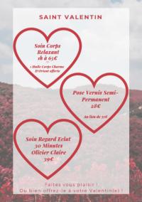 Offre St Valentin chez Bulles de Perles à Ermont!